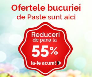 Campanie de reduceri Ofertele Bucuriei de Paste sunt aici! Reduceri de pana la -55%!