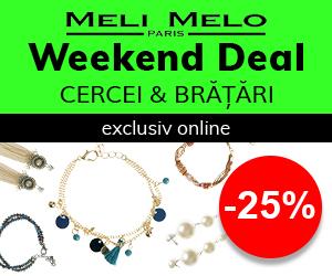Campanie de reduceri Weekend Deal: -25% la Cercei si Bratari, exclusiv online
