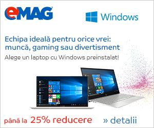 Campanie de reduceri Laptopuri moderne cu Windows, 08- 21.04.2019