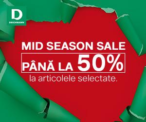 Campanie de reduceri Până la 50% reducere: descoperă Midseason Sale în magazinul online Deichmann