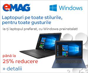 Campanie de reduceri Laptopuri cu Windows, 22- 27.04.2019
