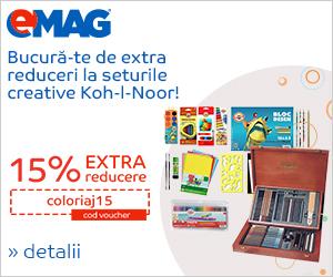 Campanie de reduceri Voucher 15% extra reducere Office supplies Koh-l-Noor, 01- 10.05.2019