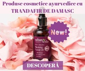 Campanie de reduceri NOU in Romania! Produse cosmetice ayurvedice cu Trandafir de Damasc