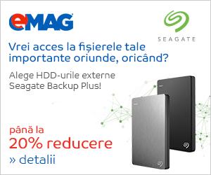 Campanie de reduceri HDD-uri Seagate Back Up Plus, 08- 13.05.2019