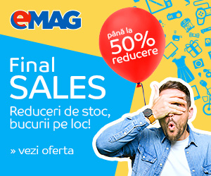 Campanie de reduceri Pana la 50% reducere in Final Sales!