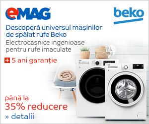 Campanie de reduceri Pana la 35% reducere la masinile de spalat rufe Beko