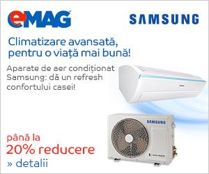 Campanie de reduceri Pana la 20% reducere la aparatele de aer conditionat Samsung