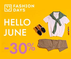 Campanie de reduceri Hello June - 30% OFF la articolele pentru barbati
