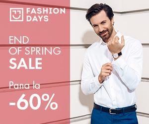 Campanie de reduceri End of Spring Sale - pana la 60% reducere la articolele pentru barbati