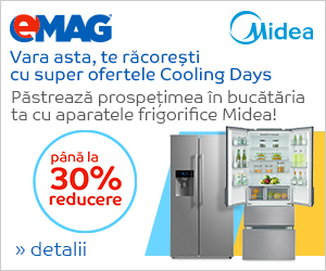 Campanie de reduceri Pana la 30% reducere la aparatele frigorifice Midea
