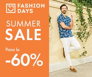 Campanie de reduceri Summer Sale - Reduceri de pana la 60% la articolele pentru barbati