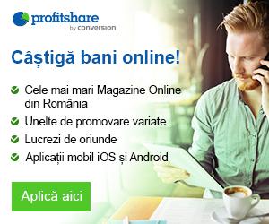 Campanie de reduceri Castiga bani online cu Profitshare!