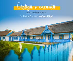 Campanie de reduceri Castiga o vacanta in Delta Dunarii!