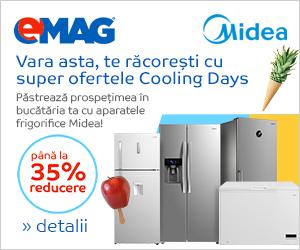 Campanie de reduceri Pana la 35% reducere la aparatele frigorifice Midea