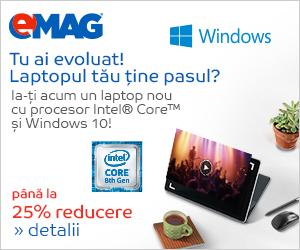 Campanie de reduceri Laptopuri cu Intel si Microsoft, 19.08- 16.09.2019