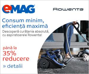 Campanie de reduceri Pana la 35% reducere la aspiratoarele Rowenta