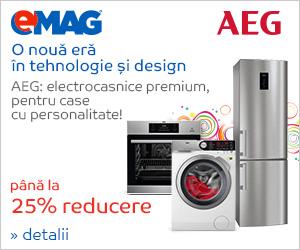 Campanie de reduceri Pana la 25% reducere la electrocasnicele mari AEG