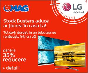 Campanie de reduceri CAMPANIE STOCK BUSTERS - TELEVIZOARE LG