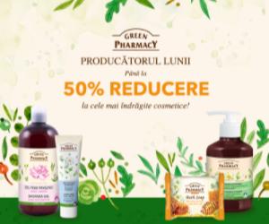 Campanie de reduceri Producatorul lunii august: Green Pharmacy Pana la -50%