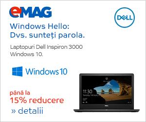 Campanie de reduceri Laptopuri Dell Inspiron 3000 cu Windows, 16- 30.09.2019