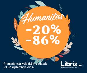 Campanie de reduceri Weekend Humanitas -20% -86%! Toamna se numara Reducerile!