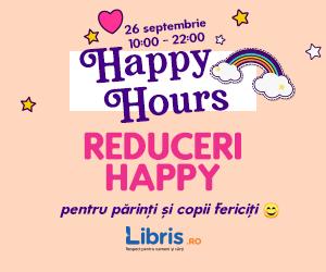 Campanie de reduceri Happy Hours -50% -20% la Carti si Jocuri pentru Copii!