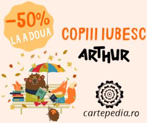 Campanie de reduceri -50% la a doua carte Arthur