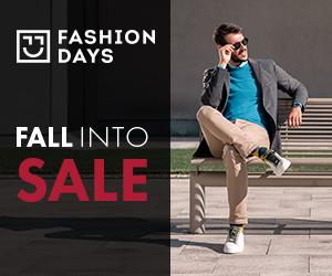 Campanie de reduceri Fall Into Sale - reduceri semnificative la articolele pentru barbati