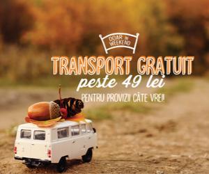 Campanie de reduceri Transport gratuit peste 49 lei