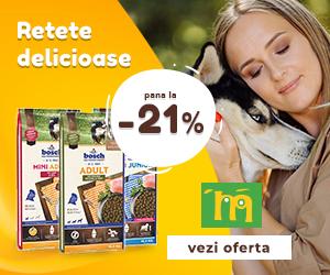 Campanie de reduceri Pana la -21% la hrana uscata pentru caini Bosch