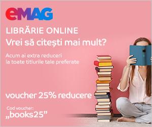 Campanie de reduceri Voucher 25% extra reducere Books, 02- 06.10.2019