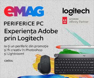Campanie de reduceri Campanie periferice Logitech+ cadou Bundle Adobe creative pt fotografi, 04.10.2019- 31.01.2020