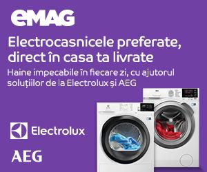 Campanie de reduceri Masini de spalat rufe si Uscataore Electroux si AEG