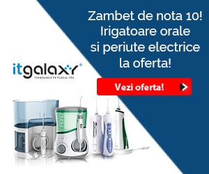 Campanie de reduceri Zambet de nota 10! Irigatoare orale si periute electrice LA OFERTA pe itgalaxy.ro!