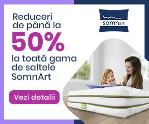 Campanie de reduceri 50% reducere Saltele Somnart octombrie