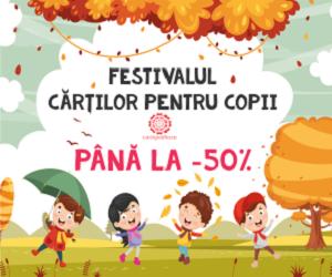 Campanie de reduceri Festivalul cărților pentru copii