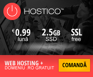 Campanie de reduceri Găzduire Web - Hostico