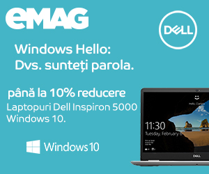 Campanie de reduceri Laptopuri Dell Inspiron cu Windows 10, 16- 24.10.2019