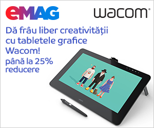 Campanie de reduceri Tablete grafice Wacom pana la 25% reducere, 31.10- 06.11.2019