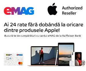 Campanie de reduceri Campanie Apple - 24 rate card eMAG