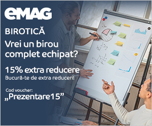 Campanie de reduceri Voucher 15% extra reducere table, flipchart-uri si accesorii birotica, 01- 10.11.2019