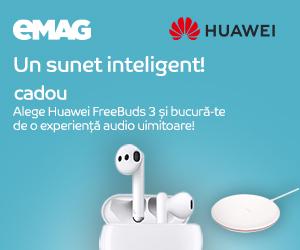 Campanie de reduceri Campanie casti Huawei FreeBuds 3