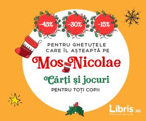 Campanie de reduceri Reduceri -45% - 30% - 15% pentru ghetutele lui Mos Nicolae! Carti si Jocuri!