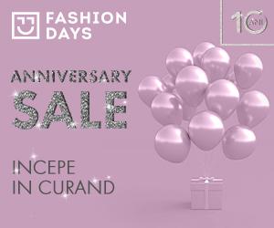 Campanie de reduceri Anniversary Sale - teasing