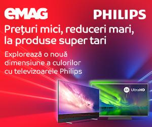 Campanie de reduceri eMAG Crazy Sale noiembrie 2019 - Televizoare Philips
