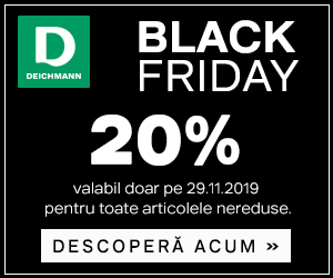 Campanie de reduceri Black Friday - 20% reducere la toate articolele nereduse în Deichmann Online Shop