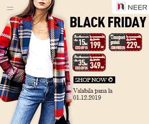 Campanie de reduceri Neer.ro-Black Friday!Reduceri uimitoare si transport gratuit
