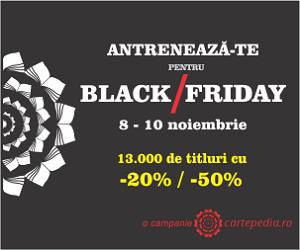 Campanie de reduceri Antrenament pentru Black Friday cu pana la 50% la toate editurile de TOP. 13.000 de titluri in stoc cu min. 20%