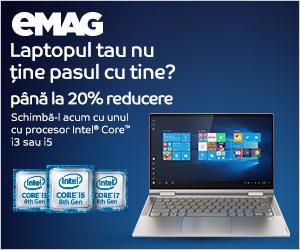 Campanie de reduceri Laptopuri cu procesor Intel i3 si i5_IMX, 22.11- 06.12.2019