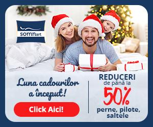 Campanie de reduceri Decembrie Luna Cadourilor Somnart